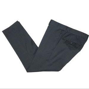 Hugo Boss Charcoal Grey Slim Fit Wool Dress Pants